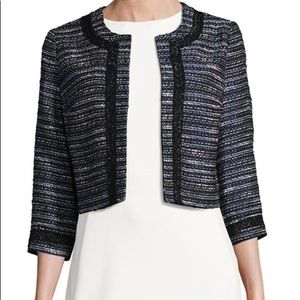 Karl Lagerfeld Paris Tweed Cropped Jacket